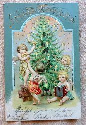 Ansichtskarte AK Fröhliche Weihnachten (Farblitho, Prägekarte)