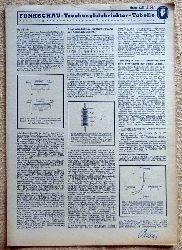 Funkschau Trockengleichrichter-Tabelle (Anleitung zur Anwendung von Trockengleichrichtern)