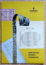 Messtechnik. Automatische Meßwertverarbeitung