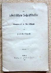 Nippold, Friedrich  Die jesuitischen Schriftsteller der Gegenwart in Deutschland