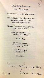 Brückner, Christine  Quin(d)t-Essenzen und Maximen (Wohlformuliert von Christine Brückner. Liebevoll in den
