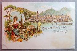 Ansichtskarte AK Souvenir de Como. Farblitho