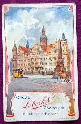 Reklamebild / Kaufmannsbild / Sammelbild Cacao Lobeck & Co. Chocolade (Serie VI Berühmte Schlösser: Königl. Residenzschloss Dresden)