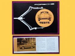 Teste Werbebroschüre für Porsche 1600, Porsche Super 75, Porsche Super 90, Porsche Carrera 2 (4 Berichte von Fachjournalisten (Heinz Krause, Engelbert Männer, Wolfgang Hocke, W. Schaup)