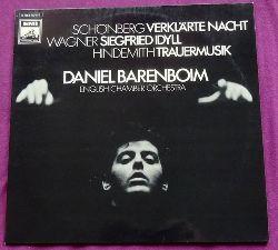 Schönberg, Arnold; Richard Wagner und Paul Hindemith  Verklärte Nacht op. 4 / Siegfried-Idyll / Trauermusik für Viola und Streicher (Daniel Barenboim. English Chamber Orchestra)