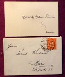 Fels, Heinrich  Glückwunschkarte / Visitenkarte des Brauerbesitzers aus Karlsruhe Heinrich Fels an Kurt Knaus v. 27.12.1921