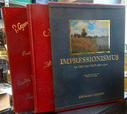 Walther, Ingo F.  Malerei des Impressionismus 1860 - 1920. Band 1: Der Impressionismus in Frankreich. Band 2: Der Impressionismus in Europa und Amerika (LUXUSAUSGABE im roten goldgeprägten Kunstledereinband)