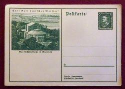 """Wagner, Richard  Ansichtskarte AK Ganzsache """"Ehrt eure deutschen Meister"""". Das Festspielhaus in Bayreuth (Ganzsache mit gedruckter Marke 6 Rpf Richard Wagner)"""
