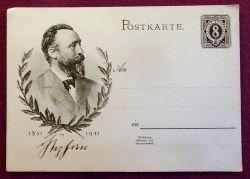 """von Stephan, Heinrich  Ansichtskarte AK Ganzsache """"Heinrich von Stephan"""" 1831-1931 (Ganzsache mit gedruckter Marke 8 Rpf)"""