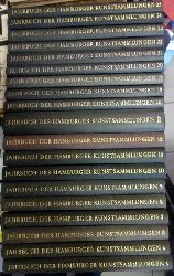 diverse Autoren  Jahrbuch der Hamburger Kunstsammlungen Band 3,4,5,7-12,14/15,16,18-25 (Bd. 14/15 Doppelband) (1958-1980)