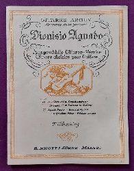 Aguado, Dionisio  24 Etüden und 10 Tonleiterstudien für Gitarre (Hg. Fritz Wörsching)