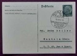 """Postkarte / Ganzsache mit 6Rpf grün (sauberer Stempel """"Berlin NW 40, XI. Milchwirtschaftlicher Weltkongreß Berlin 22.-28.8.1937"""")"""