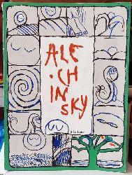 Alechinsky, Pierre  A la ligne. Avec Prédelle de Joyce Mansour et huit (8) photographies-témoins produites par Folon
