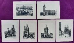 Andre, Karl  Sammlung v. 6 Original-Fotografien Prague (Depose) (1. Das Altstädter Rathaus; 2. Der Pulverthurm; 3. Die Karlsbrücke mit der Kleinseite; 4. Die Teinkirche; 5. Der Altstädter Brückenthurm; 6. Die Kleinseitner Brückenthürme)