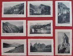 8 x Ansichtskarte AK Dauphine // 1. De la Mure a Vizille. Les lacs et l`Oblou // 2. Le Chateau de Vizille // 3. Uriage-les-Bains. Le Parc et le Chateau // 4. Ligne de Grenoble a Gap. Le Mont Aiguille // 5. Sassenage. Le Chateau des Cotes // 6. Ligne de la