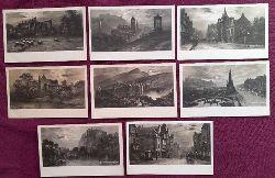 Sammlung von 8 Ansichtskarten AK Kunstpostkarten von Elmer Keene Edinburgh