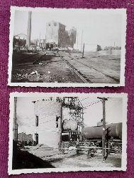 """2 Original-Fotos Millerowo 1942 """"Wasserturm"""" und """"Fabrikanlagen mit Bahngleisen"""""""
