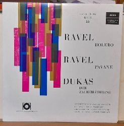 "Ravel, Maurice und Paul Dukas  Bolero / Pavane -- Der Zauberlehrling (LP 33 U/min, 10"") (Orchestre de la Suisse Romande Ernest Ansermet)"