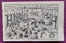 """AK Ansichtskarte Fotomontage """"Kriegsabitur 1942"""" Karlsruhe (Karte v. einer Trude aus Karlsruhe an Günter Hartmann, Nördliche Hildapromenade 19, Karlsruhe 23.3.1942)"""