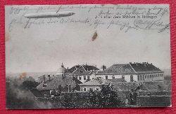 AK Ansichtskarte Z (Zeppelin) 6 über dem Schloss in Ettlingen