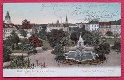 AK Ansichtskarte Ettlingen, Partie am Stadtgarten