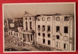 Ansichtskarte AK Bruchsal Zerstörung Schloß 2. Weltkrieg