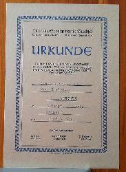 URKUNDE Turn- und Sportgemeinde Bruchsal. Turnverein 1846; Turnerbund Bruchsal 1907 (1. Sieger beim 2. landesoffenen Sportfest in Bruchsal am 29. Juni 1947. Emil Leopold im 3 Kampf..)