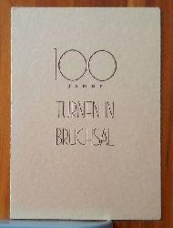 URKUNDE Turn- und Sportgemeinde Bruchsal. Turnverein 1846; Turnerbund Bruchsal 1907 (1. Sieger im 3 Kampf. Jubiläums-Wettkämpfe 1946)