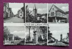 AK Ansichtskarte Gruß aus Lachen (Anm. Pfalz heute mit Speyerdorf) (6 Ansichten Kirche, Gefallenendenkmal, Bürgermeisteramt und Schule, Hauptstraße, Bahnhofstraße, Siedlung)