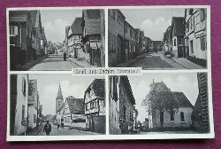 AK Ansichtskarte Gruß aus Lachen (Anm. Pfalz heute mit Speyerdorf) (4 Ansichten)