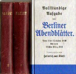 Kleist, Heinrich von,  Konvolut v. 16 Titeln / 1. Novellen der Leidenschaft,