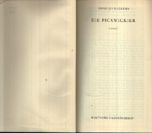 Dickens, Charles; Die Pickwickier Band-35 o.A.
