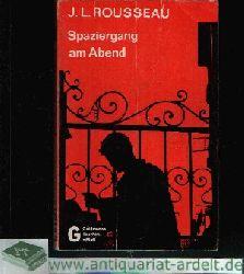 Rousseau, J. L.:  Spaziergang am Abend Conduite de Nuit - Kriminal-Roman,