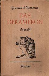 Boccaccio, Giovanni: Das Dekameron 7. Auflage, 86.-105. tausend