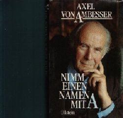 Von Ambesser, Axel:  Nimm einen Namen mit A