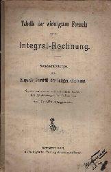 Stegemann, Max:  Tabellen der wichtigsten Formeln aus der Integral-Rechnung Sonderabdruck