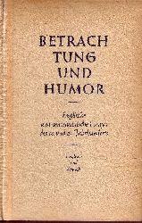 Hock, Erich:  Betrachtung und Humor Englische und amerikanische Essays des 18. und 19. Jahrhunderts - Englisch und Deutsch