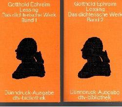 Lessing, Gotthold Ephraim: Das  dichterische Werk Band 1 + Band 2