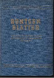 Autorengruppe: Röntgenblätter Zeitschrift für Röntgen-Technik und medizinisch-wissenschaftliche Photographie - IX. Jahrgang 1956