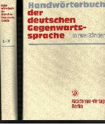 Günter Kempcke: Handwörterbuch der deutschen Gegenwartssprache (in zwei Bänden)
