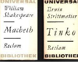Shakespeare, William und Erwin Strittmatter; Macbeth - Tinko 2 Bücher 13. u. 26 Auflage