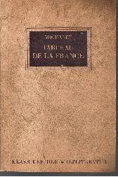 Jules Michelet:  Tableau de la france