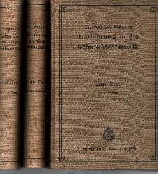 von Mangoldt, Hans: Einführung in die höhere Mathematik Band 1 bis 3 4. Auflage