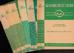 Möhler, Erhard, Edmund Bredy und Georg  Büschelberger Hanns andere Günther:  Kleines Gesundheitsbuch Nr. 31, 55, 60, 61, 74 6 Hefte (Heft 61 ist doppelt)