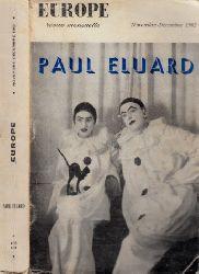 Eluard, Paul; Europe revue mensuelle - Novembre-Decembre 1962