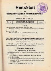 Autorengruppe; Amtsblatt des Württembergischen Kultministeriums Nr. 7