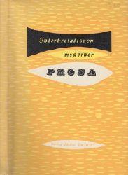 Kitzinger, Erwin;  Interpretationen Moderner Prosa - Anläßlich der Fortbildungstagung für Deutsch- und Geschichtslehrer in Hohenschwangau/Allgäu