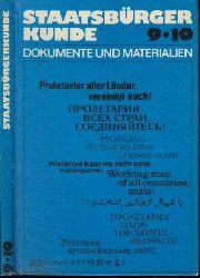 Autorengruppe;  Staatsbürgerkunde 9/10 - Dokumente und Materialien