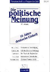 Autorengruppe; Die politische Meinung - Heft 371 Oktober 2000 45. Jahrgang