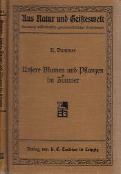 Dammer, Udo; Unsere Blumen und Pflanzen im Zimmer Aus Natur und Geisteswelt - Sammlung wissenschaftlich-gemeinverständlicher Darstellungen 359. Bändchen
